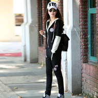 mailljor 2013女装时尚气质新款大牌日韩甜美百搭秋冬两件套女装