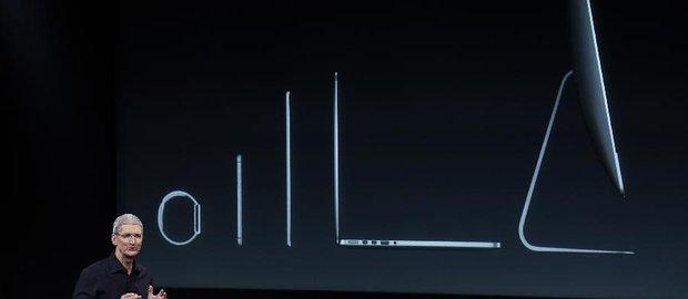 银色苹果电脑屏幕矢量图