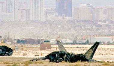 美军第五代战斗机F-22猛禽坠毁事故监视画面