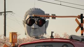 """连佛祖也追求时尚""""戴上了墨镜"""""""