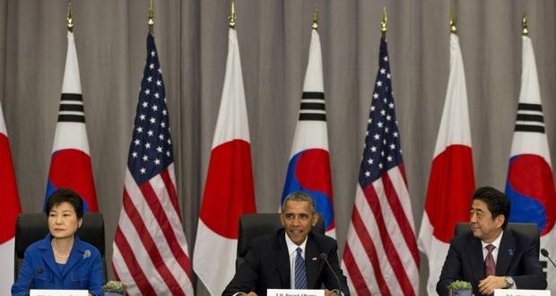 美日韩首脑核安全峰会期间举行会谈