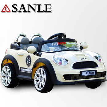 儿童电动车宝马mini遥控电动汽车四轮可坐超大玩具车