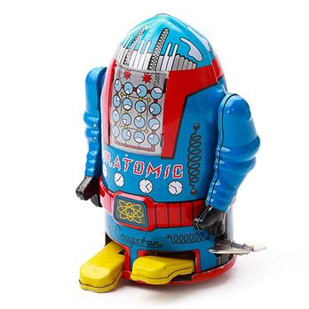80后怀旧铁皮玩具-火箭机器人