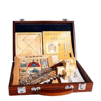 木盒四大古典益智玩具6岁以上儿童成人解锁