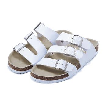 个性搭扣贝肯鞋(女款) 白色