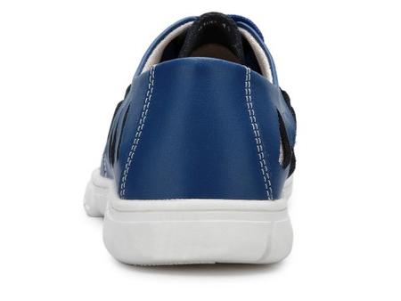 西瑞 男休闲皮鞋 蓝色