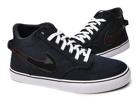 纯色漆皮logo中帮滑板运动鞋