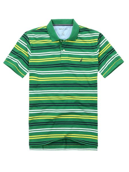 绿色 短袖翻领t恤