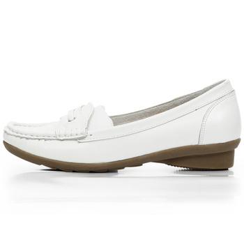 女休闲皮鞋 护士鞋