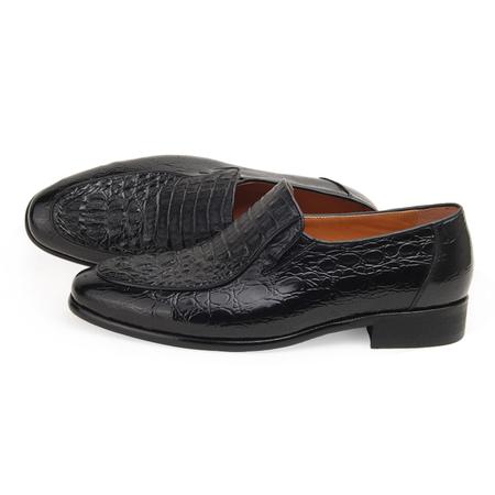 鳄鱼皮商务正装鞋 - 男士皮鞋