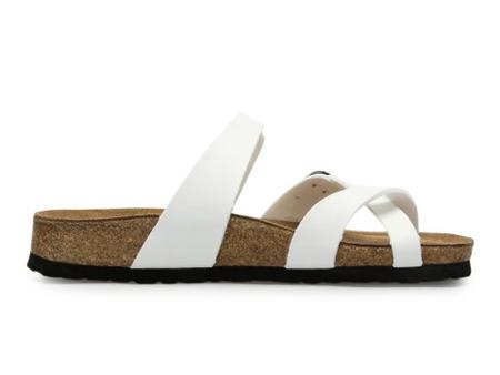 女拖鞋 白色回力胶