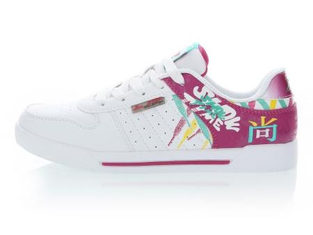 白色/梅红 女 板鞋