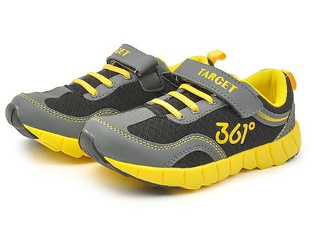 361° 男式 网眼透气魔术贴舒适跑步鞋