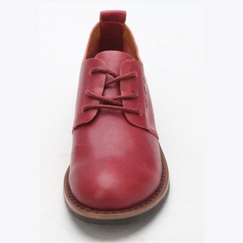 可爱大头皮鞋真皮休闲复古英伦风女鞋mw12581