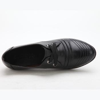 单鞋头层牛皮中老年女鞋mw81219