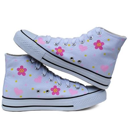 鞋可爱女孩帆布鞋z