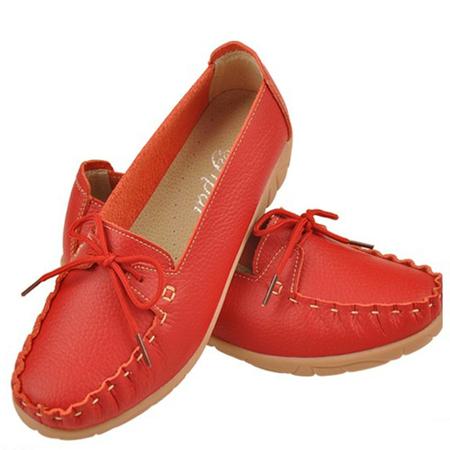 艺派平底牛皮女鞋 - 女士单鞋/女鞋/鞋包配饰