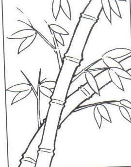 儿童画的竹子怎么画