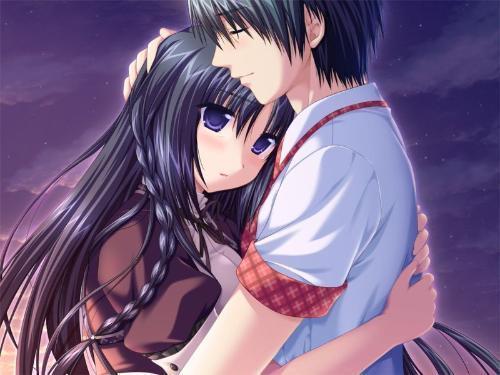 动漫拥抱,,吻额头的图片