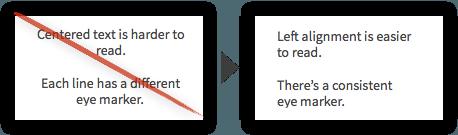 Best Practice #78 - Left Align the Majority of Body Text