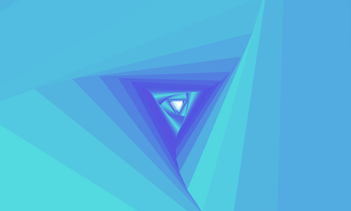 Screenshot of a demo with a triangle tube - Infinite Tubes with Three.js