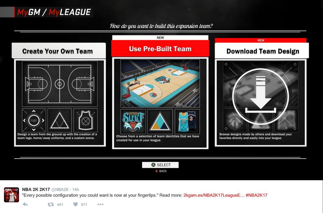 《NBA 2K17》新特性公开