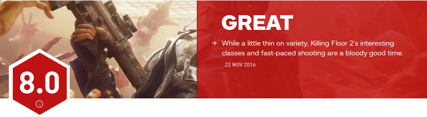 《杀戮空间2》IGN评分8.0