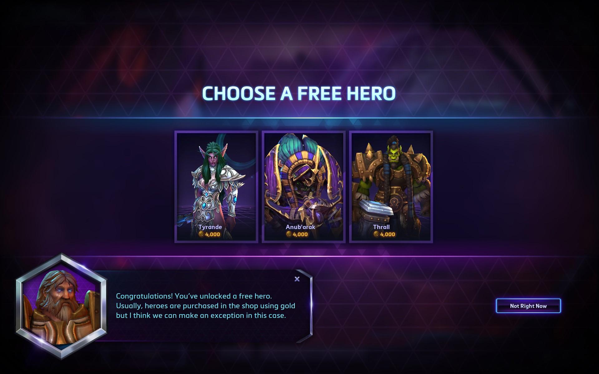 《风暴英雄》免费送英雄
