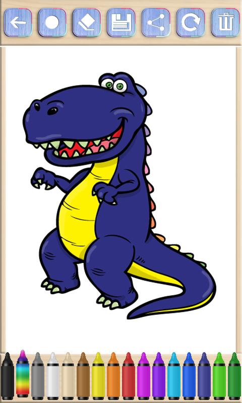 恐龙游戏儿童画画