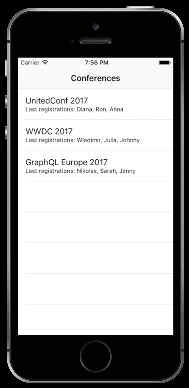 iOS Screen Application Running