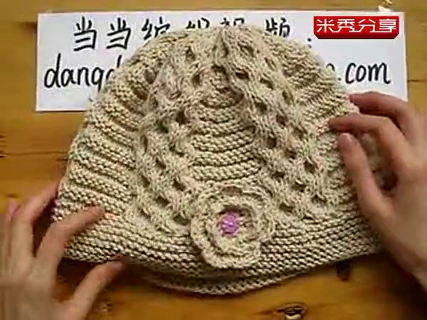 【当当编织】女士蜂窝帽子编织视频