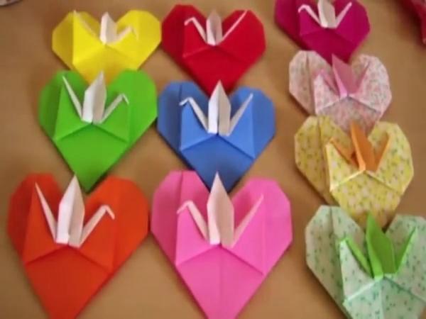 手工制作大全 儿童折纸 情人节生日示爱千纸鹤