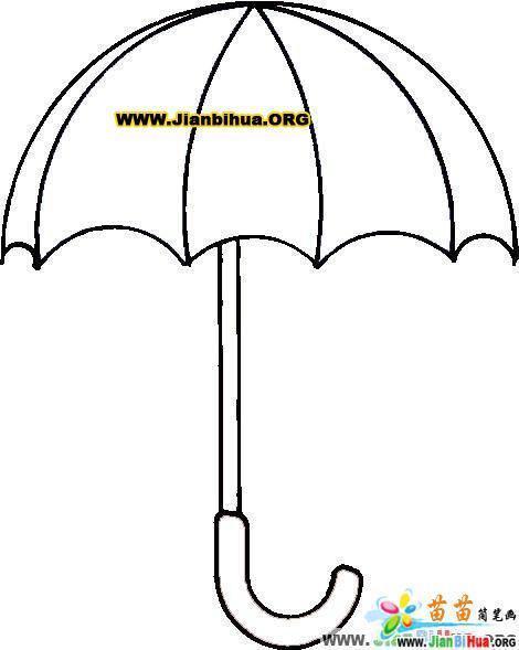 简笔画雨伞和围巾怎么画