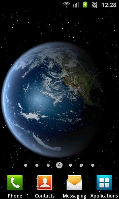 《 3D高清地球旋转动态壁纸 》截图欣赏
