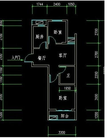 求60平方小户型房子的装修平面图!2室一厅的!有的发!