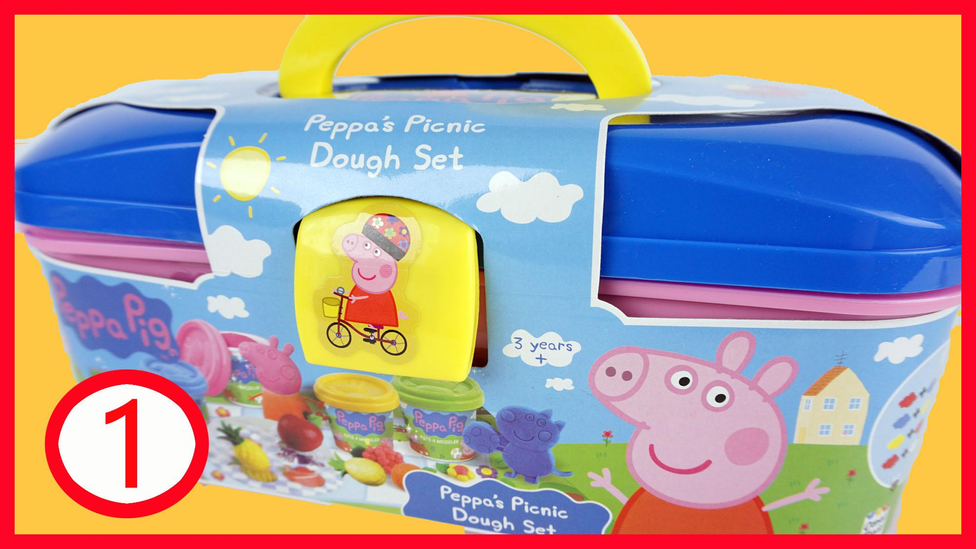 粉红猪小妹小猪佩奇培乐多橡皮泥彩泥野餐套装
