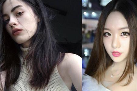 【图】圆脸圆下巴适合什么发型 中分长发很合适