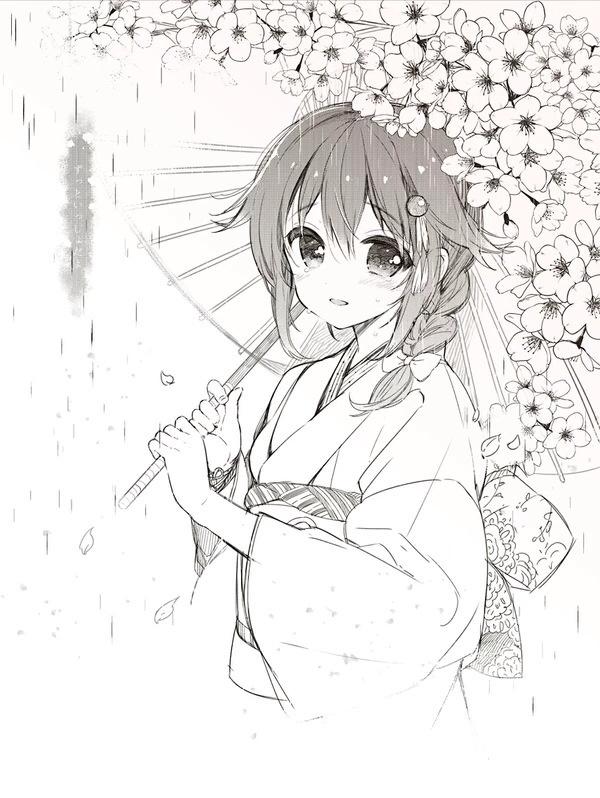 铅笔手绘漫画萌少女