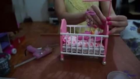 制作芭比娃娃的婴儿床【琪琪娃娃手工艺品】