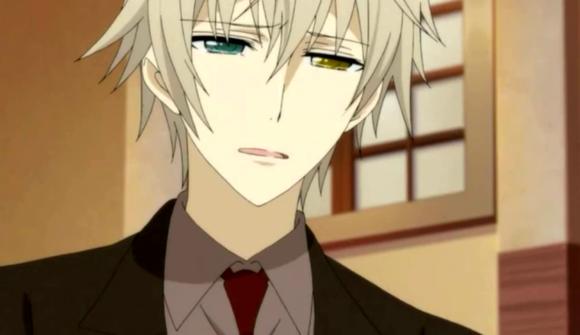 求动漫的异瞳的动漫男生,最好是黑白或灰白,眼睛有颜色就行,越多越好