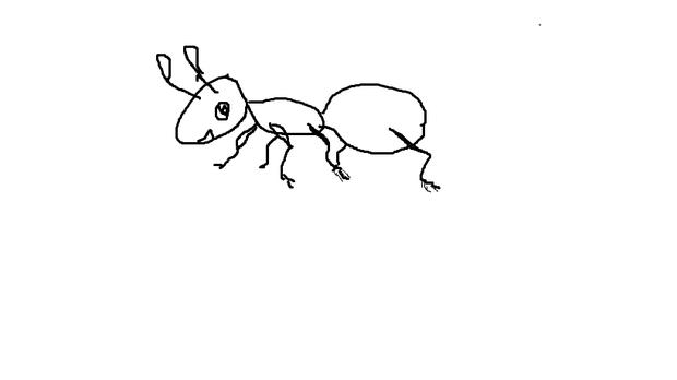 儿童简笔画蚂蚁
