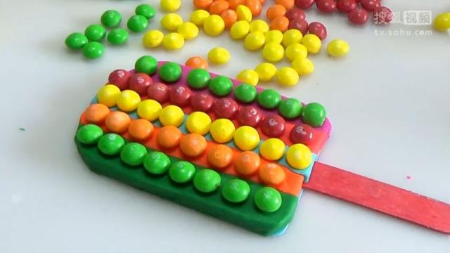 培乐多playdoh橡皮泥彩泥粘土 冰淇淋雪糕手工制作 彩虹豆冰淇淋