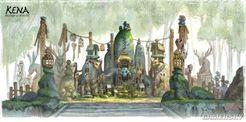 《柯娜:精神之桥》早期概念图 展示伙伴及植物设定