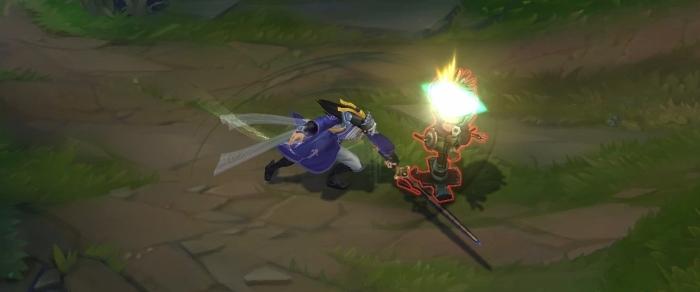 LOL仙侠皮肤剑圣易特效图片欣赏 天外飞仙简直帅炸