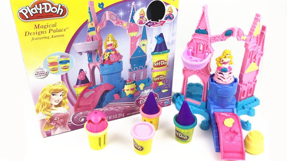 迪士尼长发公主 芭比娃娃魔法城堡彩泥玩具套装 橡皮泥手工制作 .