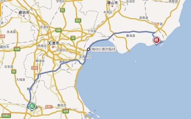 乐亭和沧州地图
