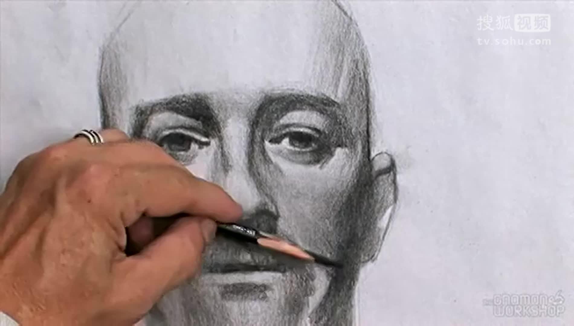 人物素描头像四步骤图-人物头像素描教程-初学者人物头像素描-素描人