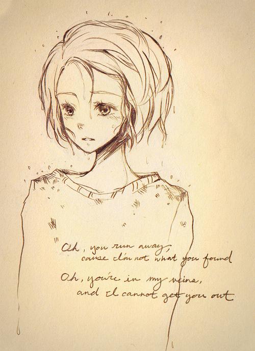 卡通小女孩铅笔画怎么画