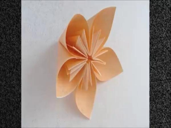 折纸花 折纸大全图解视频 纸花球中的花朵做法