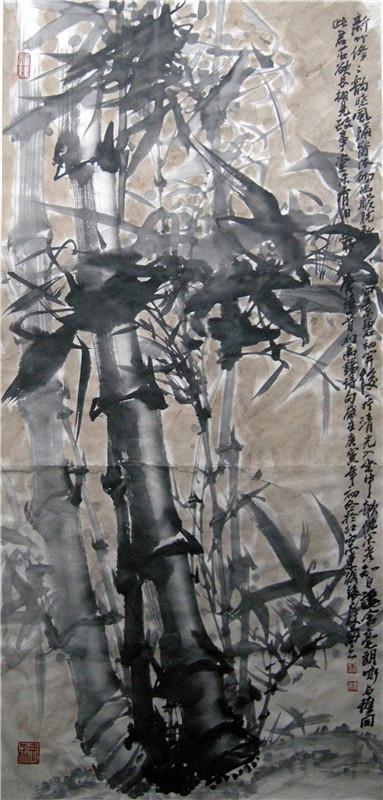 张大林国画竹子图片